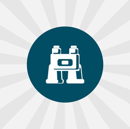 binoculars isolated vector icon. binocular design element