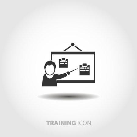 business training icon. Speaker at business workshop isolated vector icon. business design element Vektorgrafik