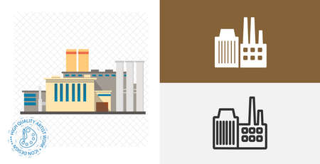 factory isolated vector icon. pollution, ecology design element Stock Illustratie