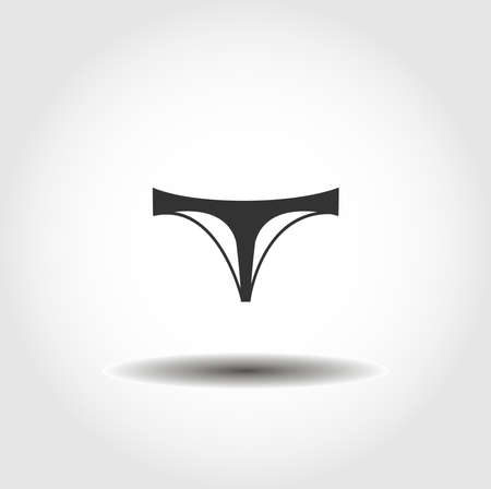 Thong Panties isolated vector icon. clothes design element Иллюстрация