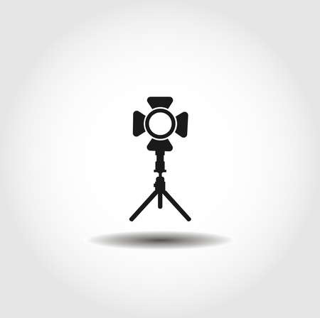 Spotlight isolated vector icon. camera, media design element