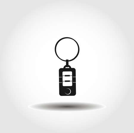 car key isolated vector icon. car part design element