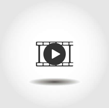 Film frame isolated vector icon. interface element Stock Illustratie