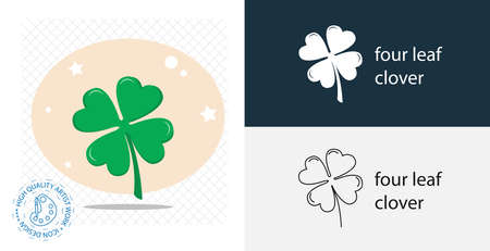 four leaf clover isolated vector icon. casino design element