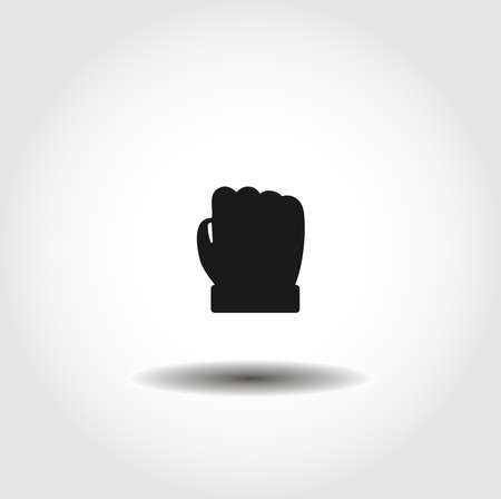 Fist isolated vector icon. interface element