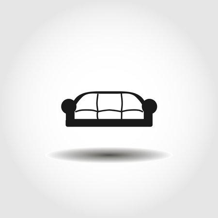 sofa isolated vector icon. ecology design element  イラスト・ベクター素材
