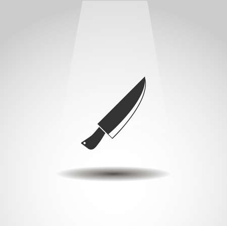 kitchen knife isolated vector icon. knife design element