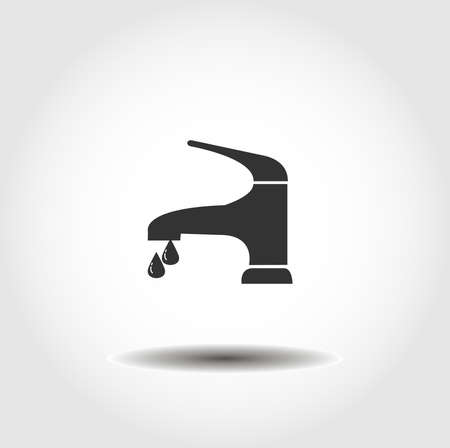 water tap isolated vector icon. tap design element