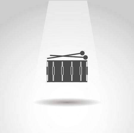 Drum icon, Drum simple music icon
