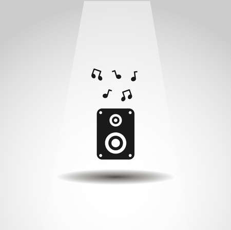 audio speaker icon, speaker simple music icon