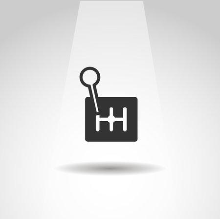 gearbox icon. manual gearbox vector icon, simple racing icon Vector Illustration