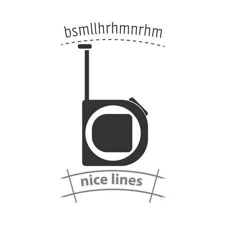 Tape measure icon. Roulette construction simple vector icon. Tape measure isolated icon