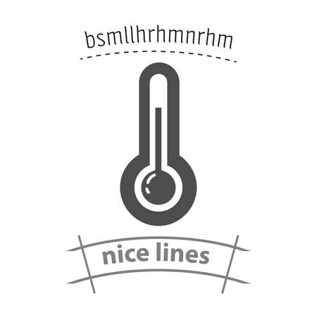 weather thermometer simple vector icon. weather thermometer isolated icon