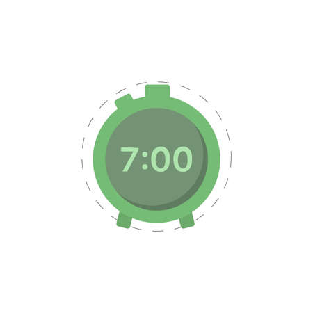 Electronic alarm clock clipart. alarm clock isolated simple vector clipart