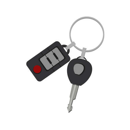 car key clipart. car key isolated simple flat vector clipart