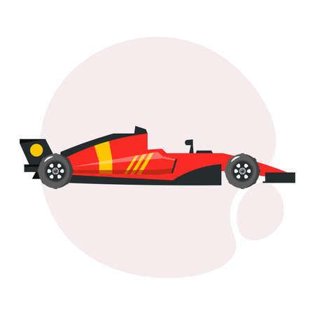 Sports car clipart. racing car simple vector clipart. racing car isolated clipart.