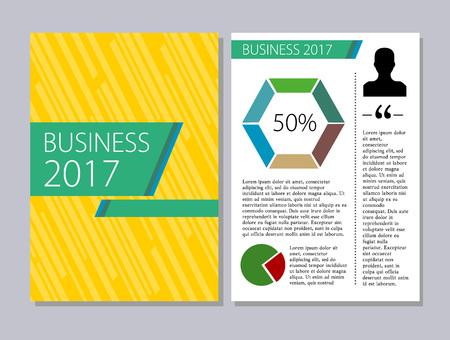 magazine template: Flyers design template vector. Brochure report business magazine poster. Illustration