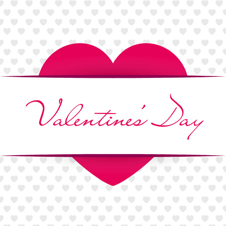 Valentines Day. Red heart. Vector illustration EPS10 Stock Photo
