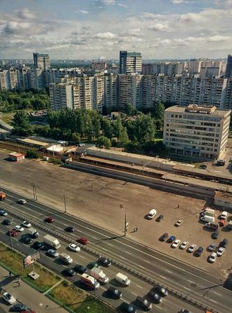 twentieth: View of Moscow, shot from the twentieth floor Stock Photo