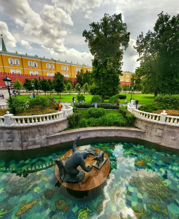 showplace: Showplace near Kremlin wall Stock Photo