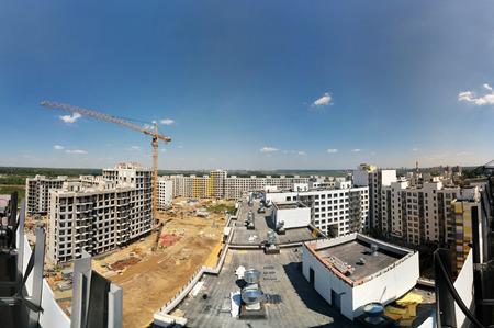 suburbs: Panorama of suburbs near Moscow