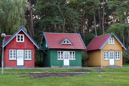 Three little houses
