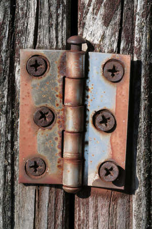 Details - old rusted hinge Stock Photo - 448802