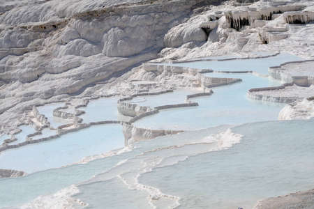 phenomena: Travertine pools and terraces, Pamukkale, Turkey Stock Photo