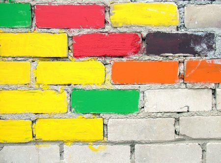 aberrant: Colourful bricks wall
