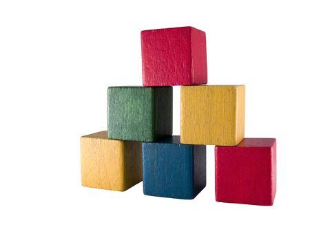 Vintage play blocks photo