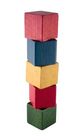 toy blocks: Vintage play blocks Stock Photo