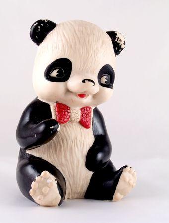Panda bear old toy photo