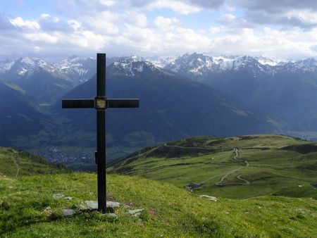 inri: Cross against sky Stock Photo