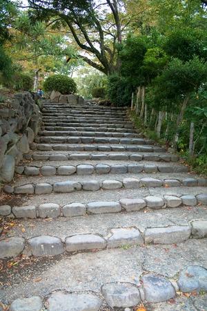 odawara: Stone stairs in Odawara castle