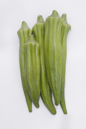 withe: Okra (Abelmoschus esculentus) isolated on withe background