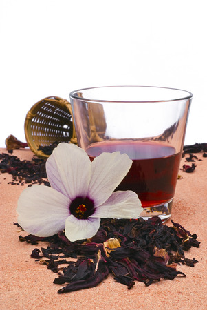 Hibiscus tea (Roselle) Also known as Karkad or Roselle. Flower and sepals dried for infusions