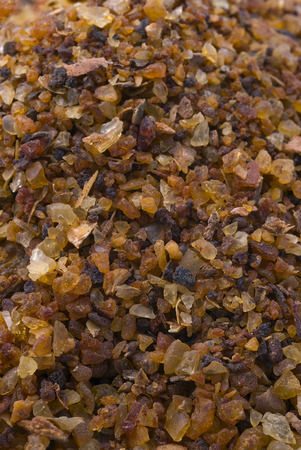 myrrh: myrrh (Commiphora myrrha), fragrant resin. gum rosin. Stock Photo