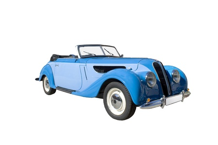 Classic retro blue car