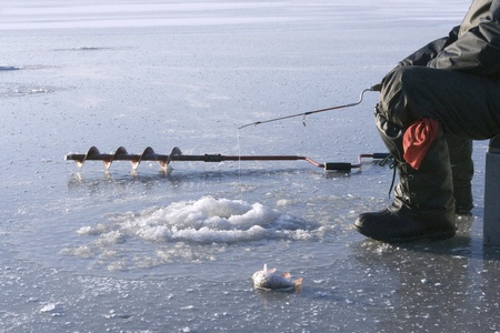 Ice fishing  photo