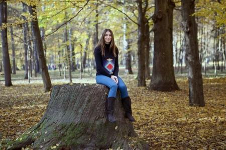 donna di riposo nel parco Archivio Fotografico