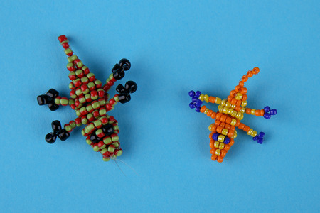 Beads crocodiles keychains