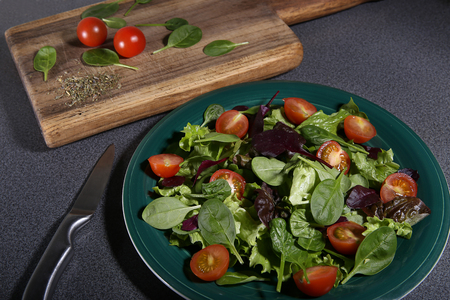 freshly prepared: Freshly prepared salad Stock Photo