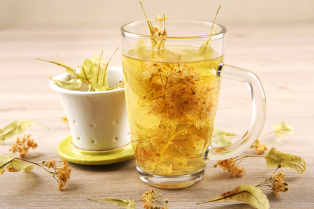 lime blossom: Lime tea cup with dried blossom