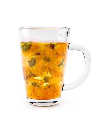 Calendula or marigold tea