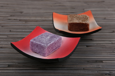 Dry perfume for home and body. Dry soap bar in plates.