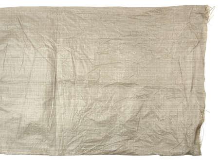 Woven plastic bag isolated on white 版權商用圖片