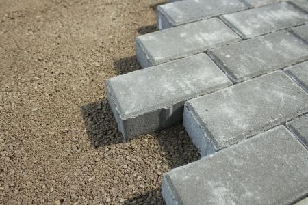 sidewalk from bricks Фото со стока - 23932937