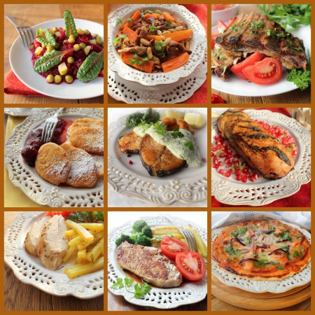 collage of various meals photo