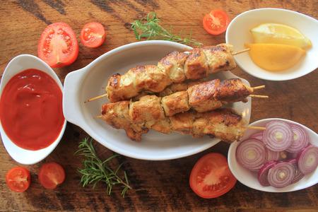 kabob: Grilled chicken kabob