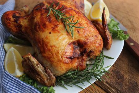 pollo: de pollo asado Foto de archivo
